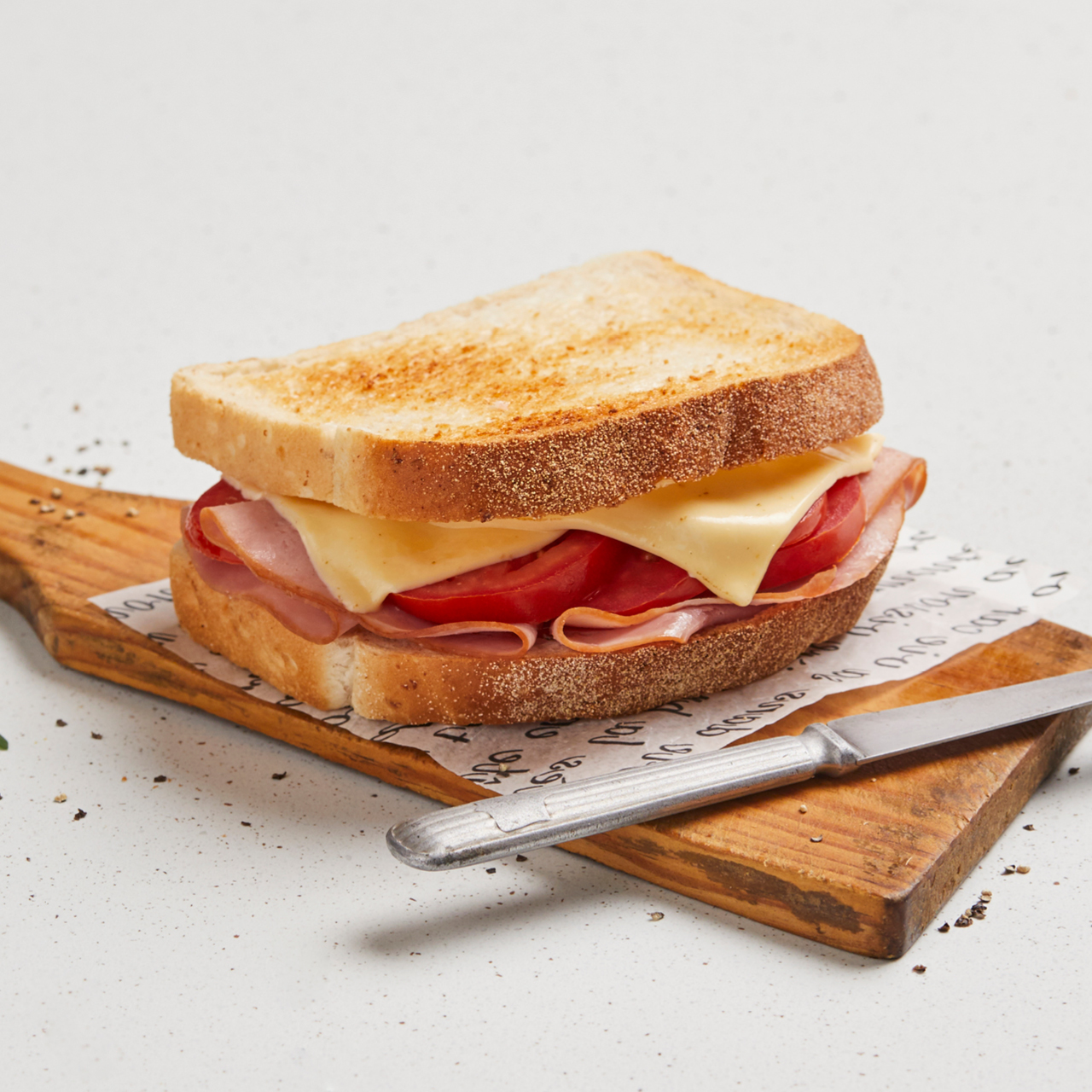 Ham Tomato and Cheese Sandwich