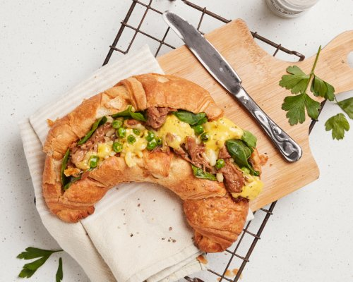 Pulled Pork Filled Croissant