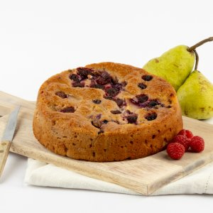 Michel's Flourless Pear Raspberry Cake